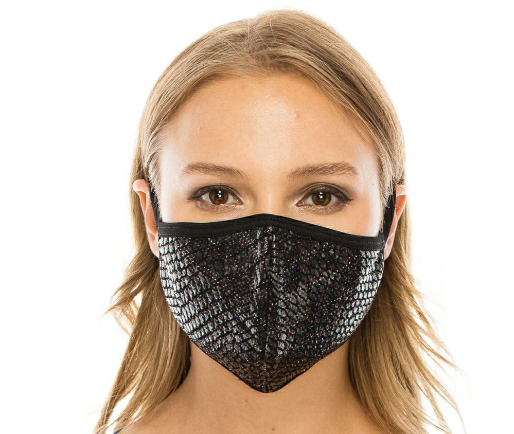 Lurex Triple Layer Facemask