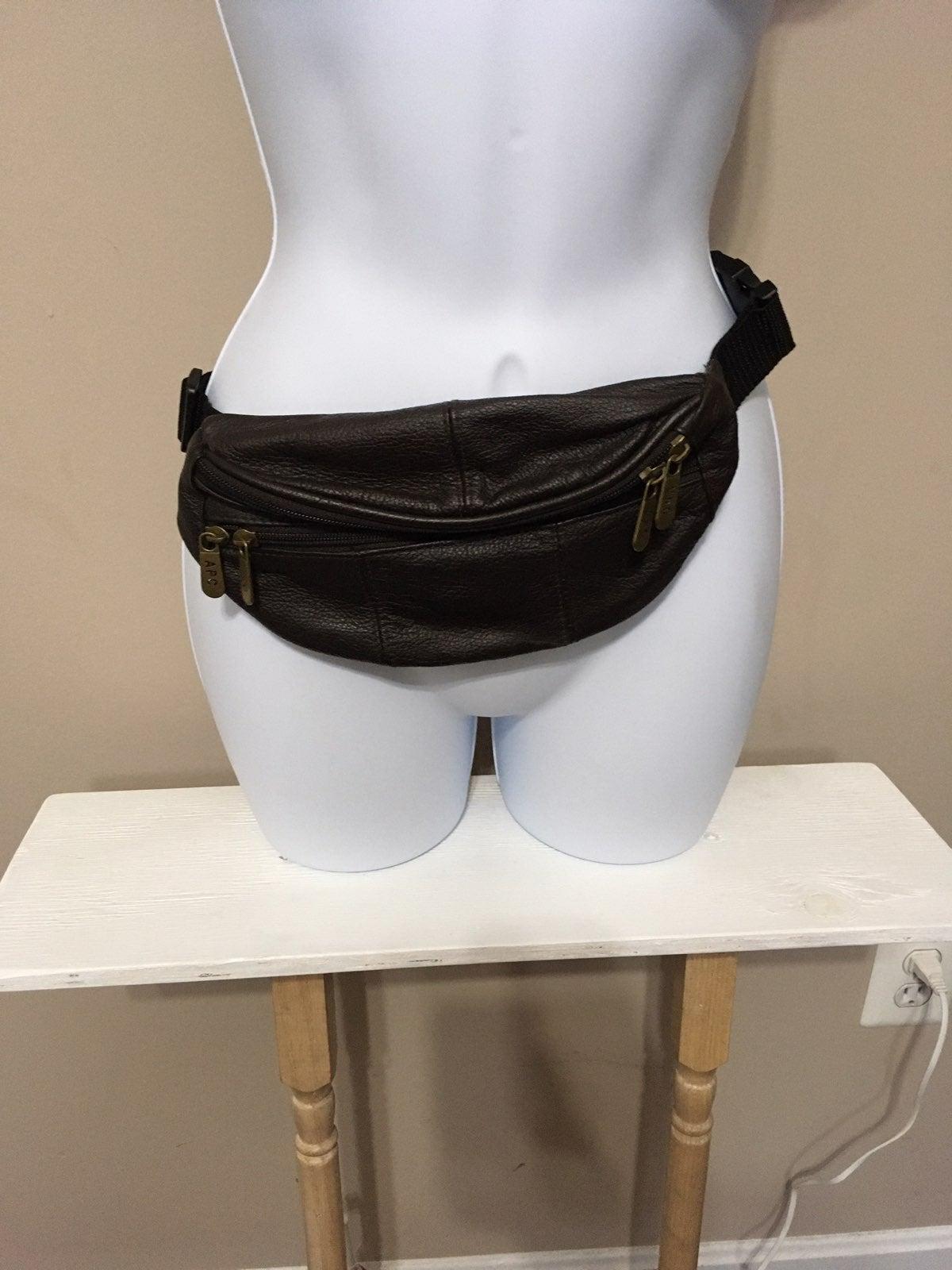 Dark Brown Leather Fanny/Sling Bag