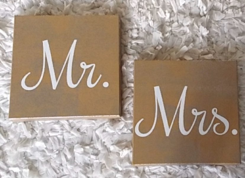 Mrs&Mr CANVAS WALL DECOR
