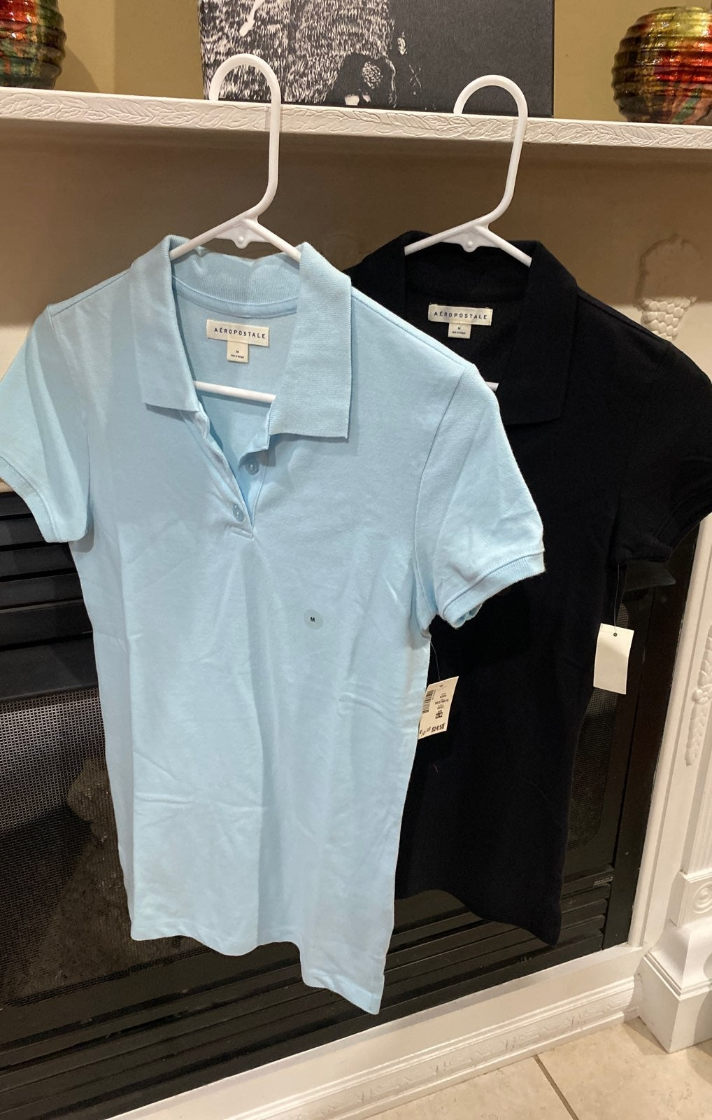 Aeropostale 2 polo shirts Medium jr size