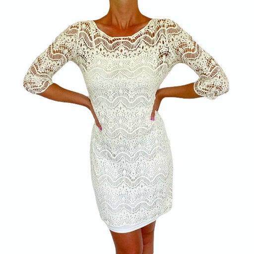 Ralph Lauren white lace cotton dress