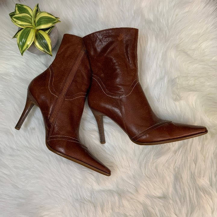 Bronx Stiletto Leather Calf Boots