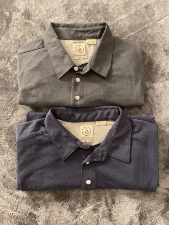 Men's Volcom Collared Button Shirt Large