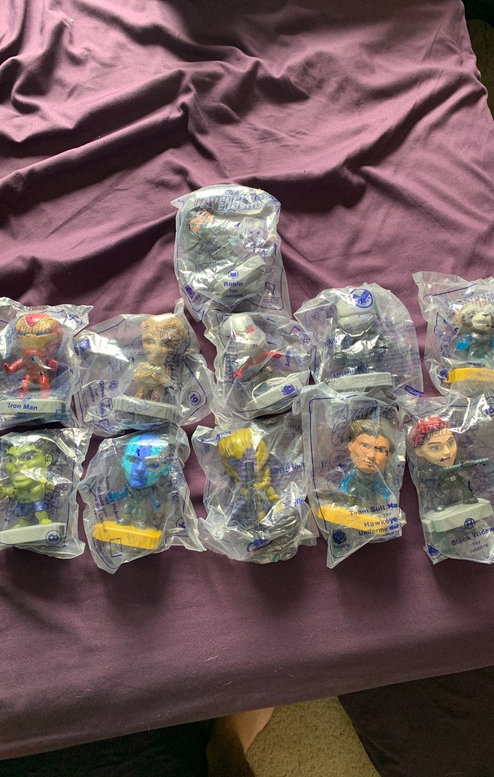 mcdonalds toys Avengers set limited edit
