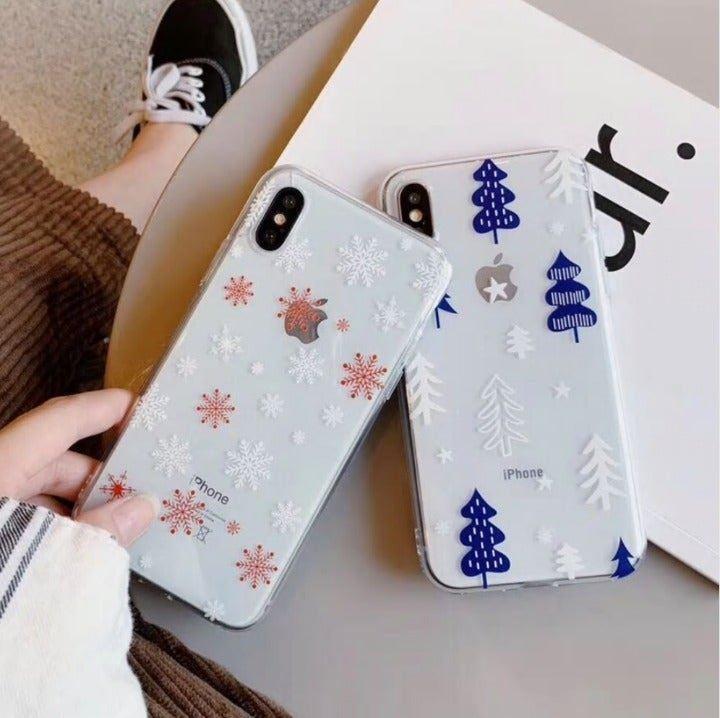 iPhone XS Max Case Snowflake/Palm Tree