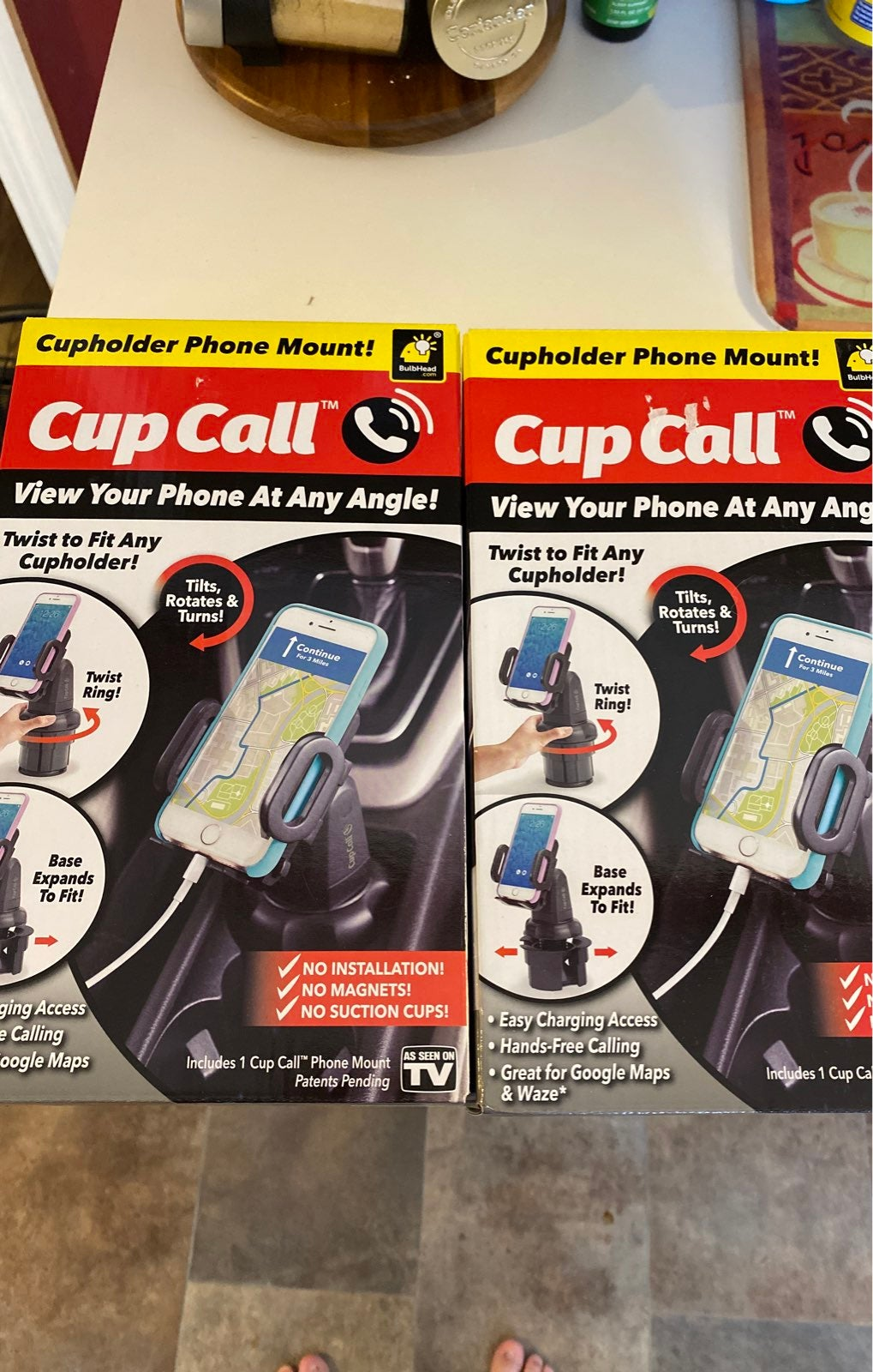 Cup call phone holder x2