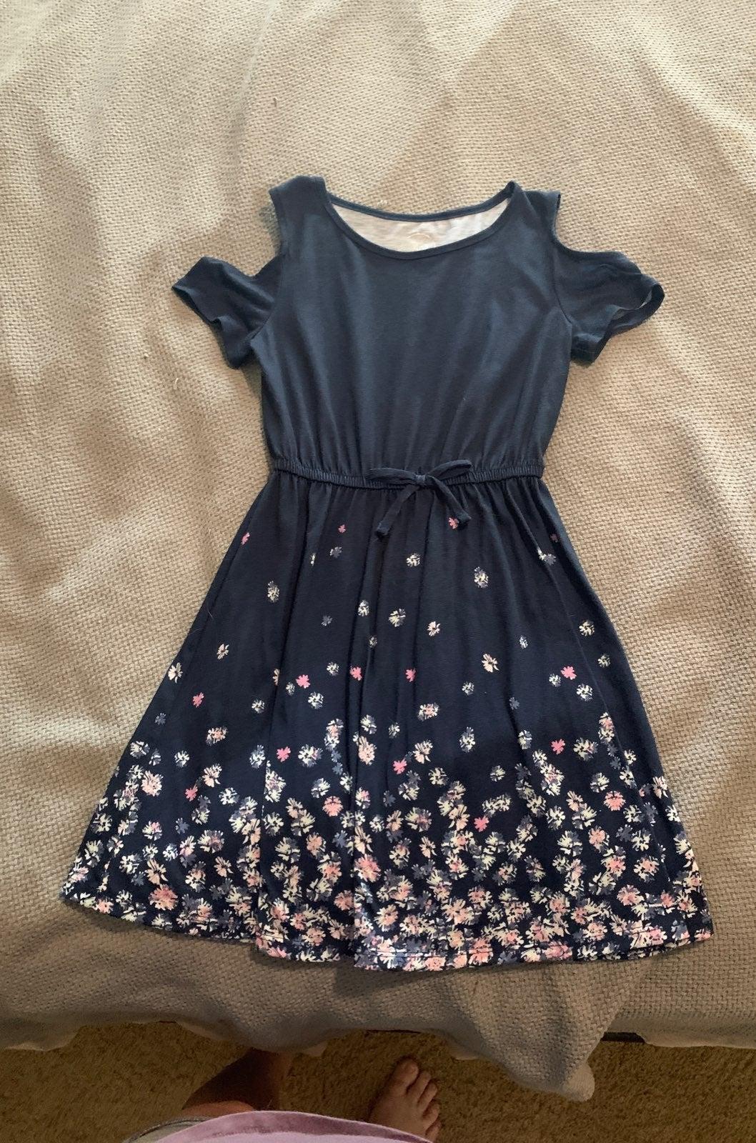 SO blue floral dress girl size 7/8