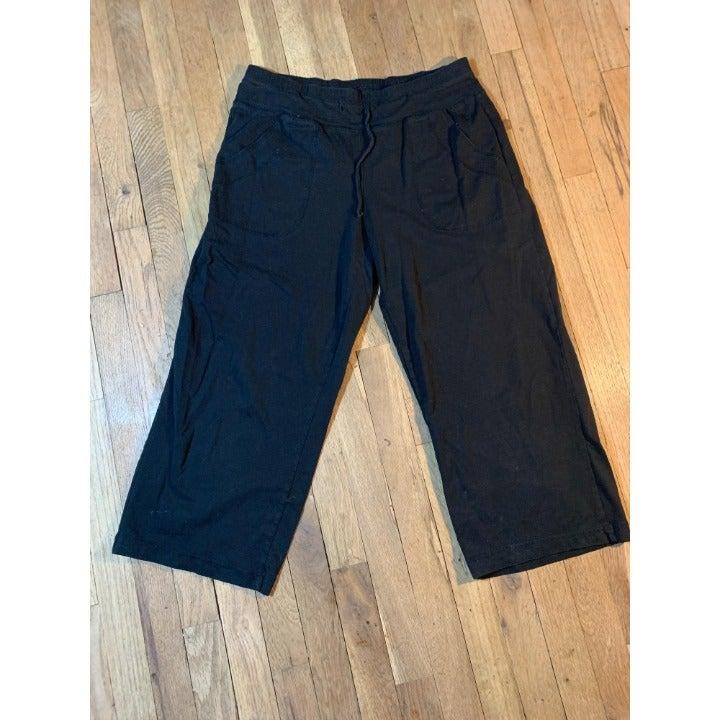 Danskin Now Capri pants ties pockets sm