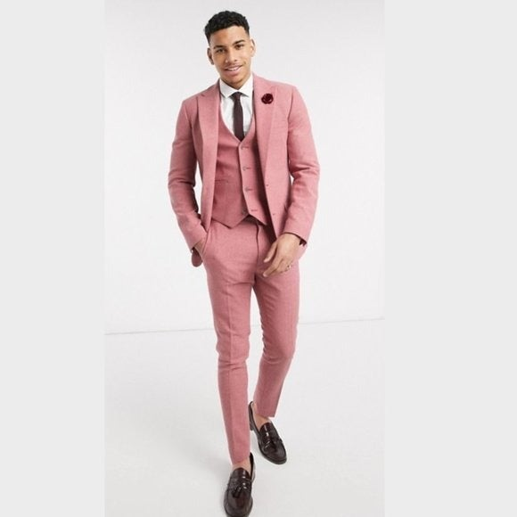 ASOS Super Skinny 3-Piece Suit Purple