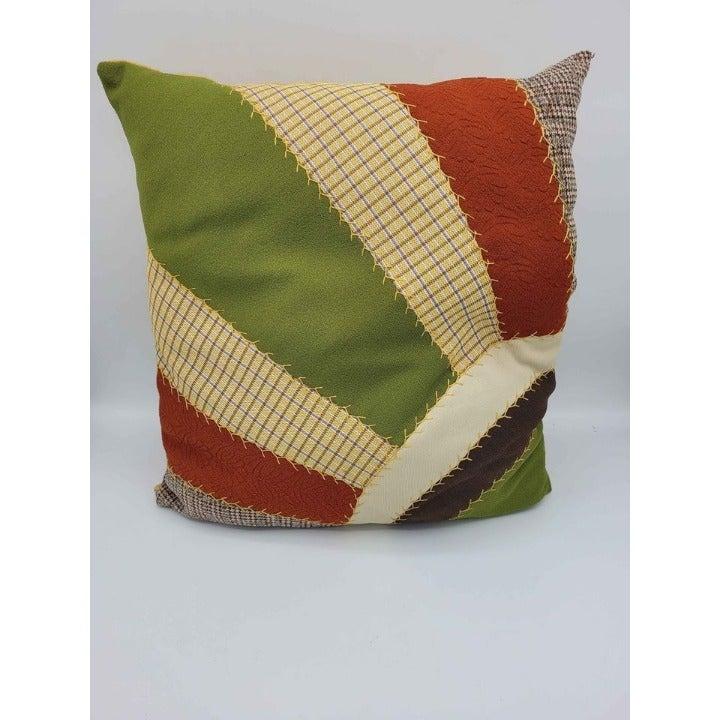 Vintage Handmade Patchwork Pillow Cordur
