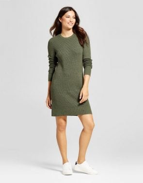 A New Day Green Sweater Dress
