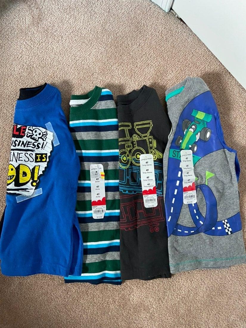 Boys Long Sleeve Shirts Size 4T lot