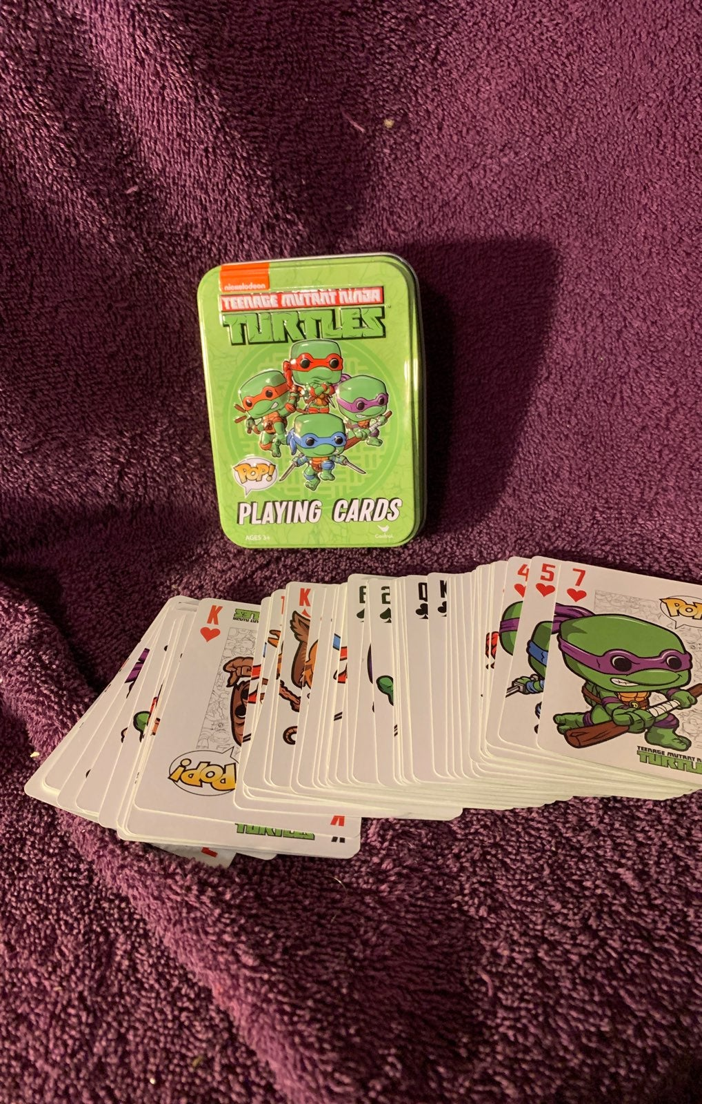 TMNT Playing Cards with Tin