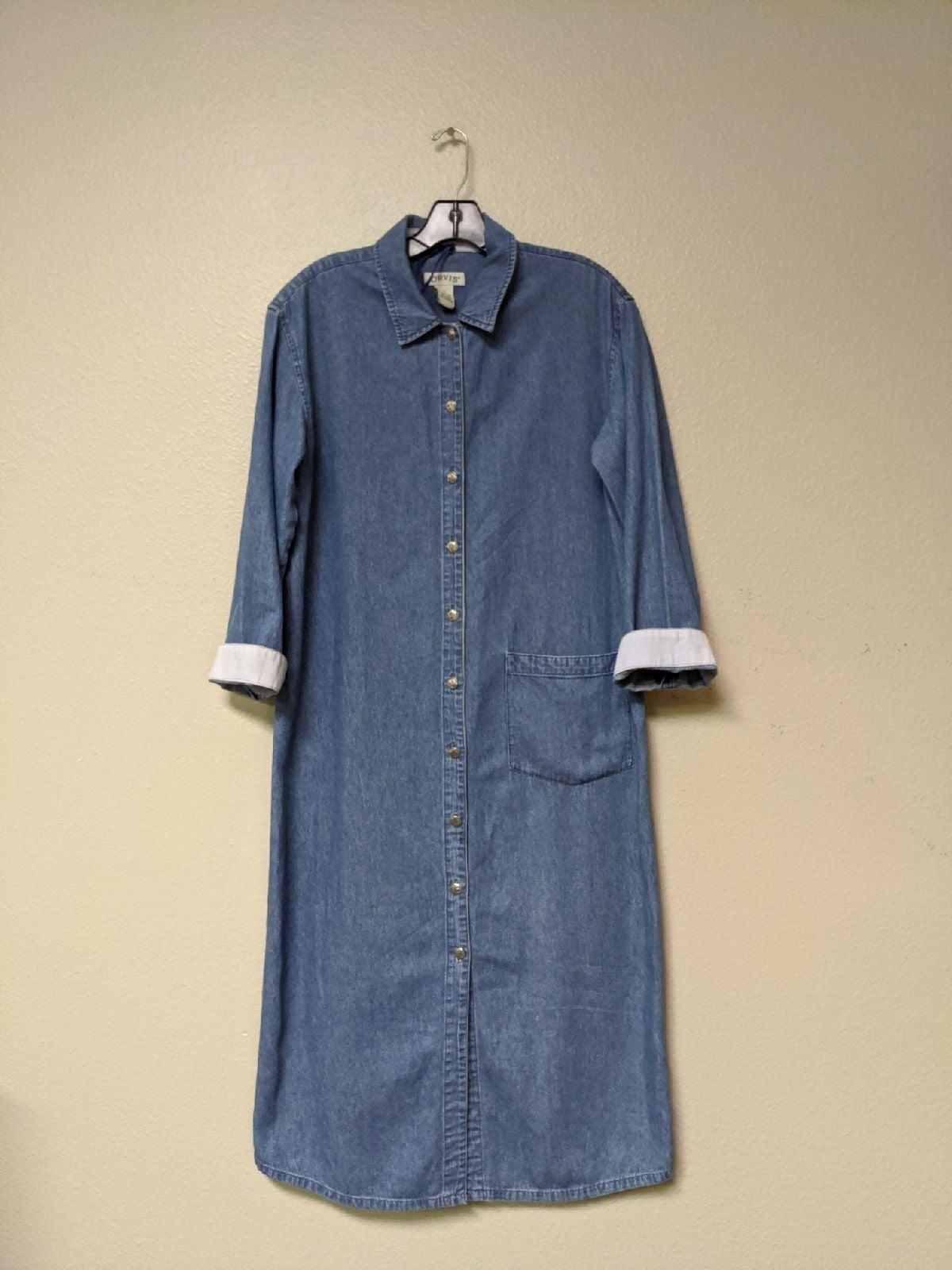 VTG ORVIS Long Denim Button Up Dress