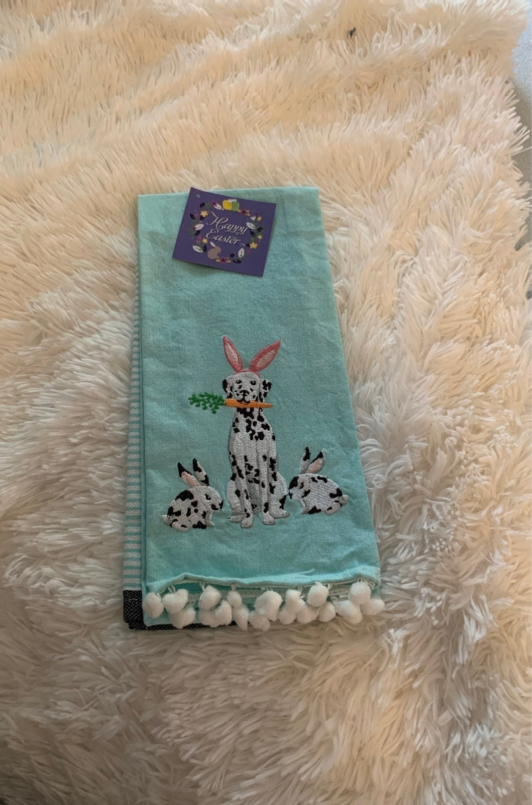 Nwt whimsical dalmation Easter towels
