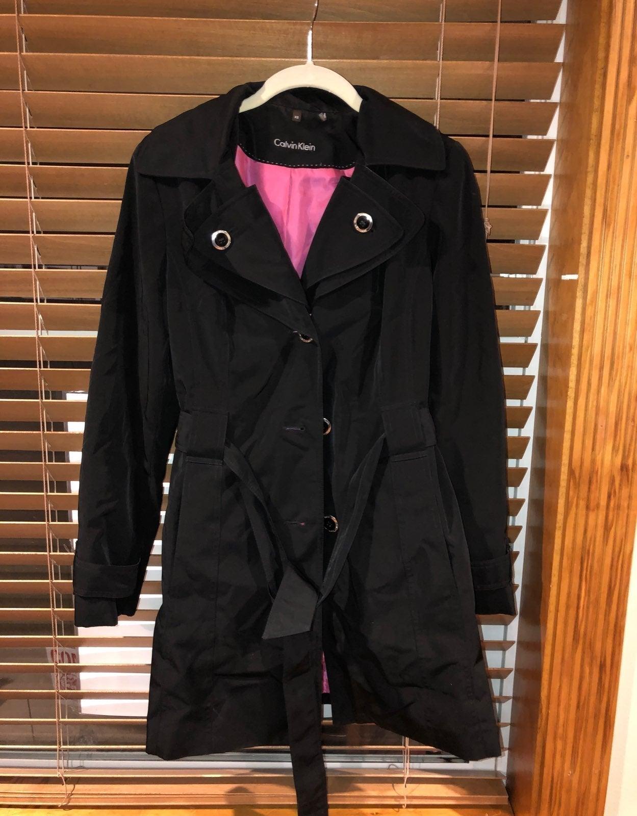 Womans CK  size xs long hooded coat