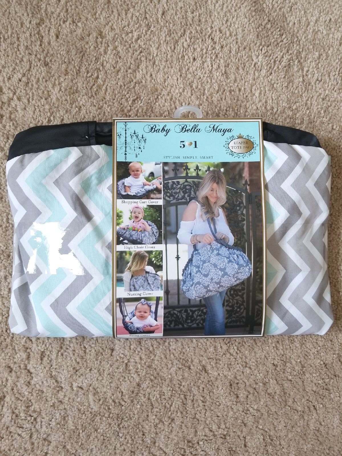 Baby Bella Maya 5 in 1 Diaper Tote Bag