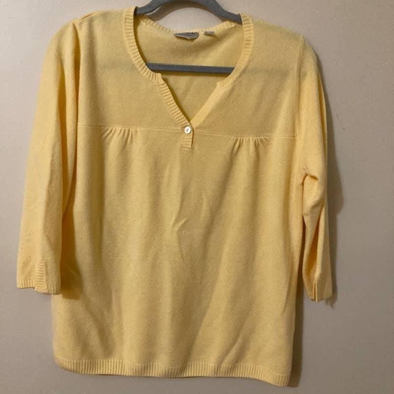 Kim Rogers Cashmalon Yellow Sweater