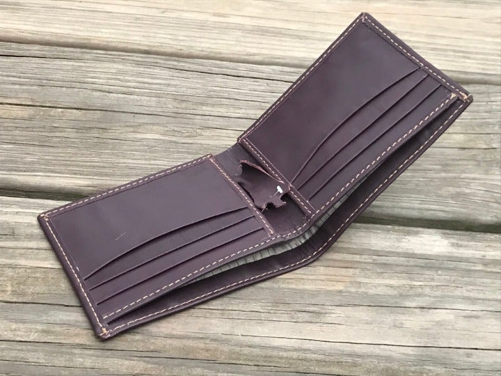 Men Card Holder Brown Wallet Purse Bifol