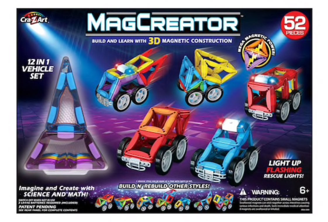 MagCreator™ 3D Magnetic Vehicle Set
