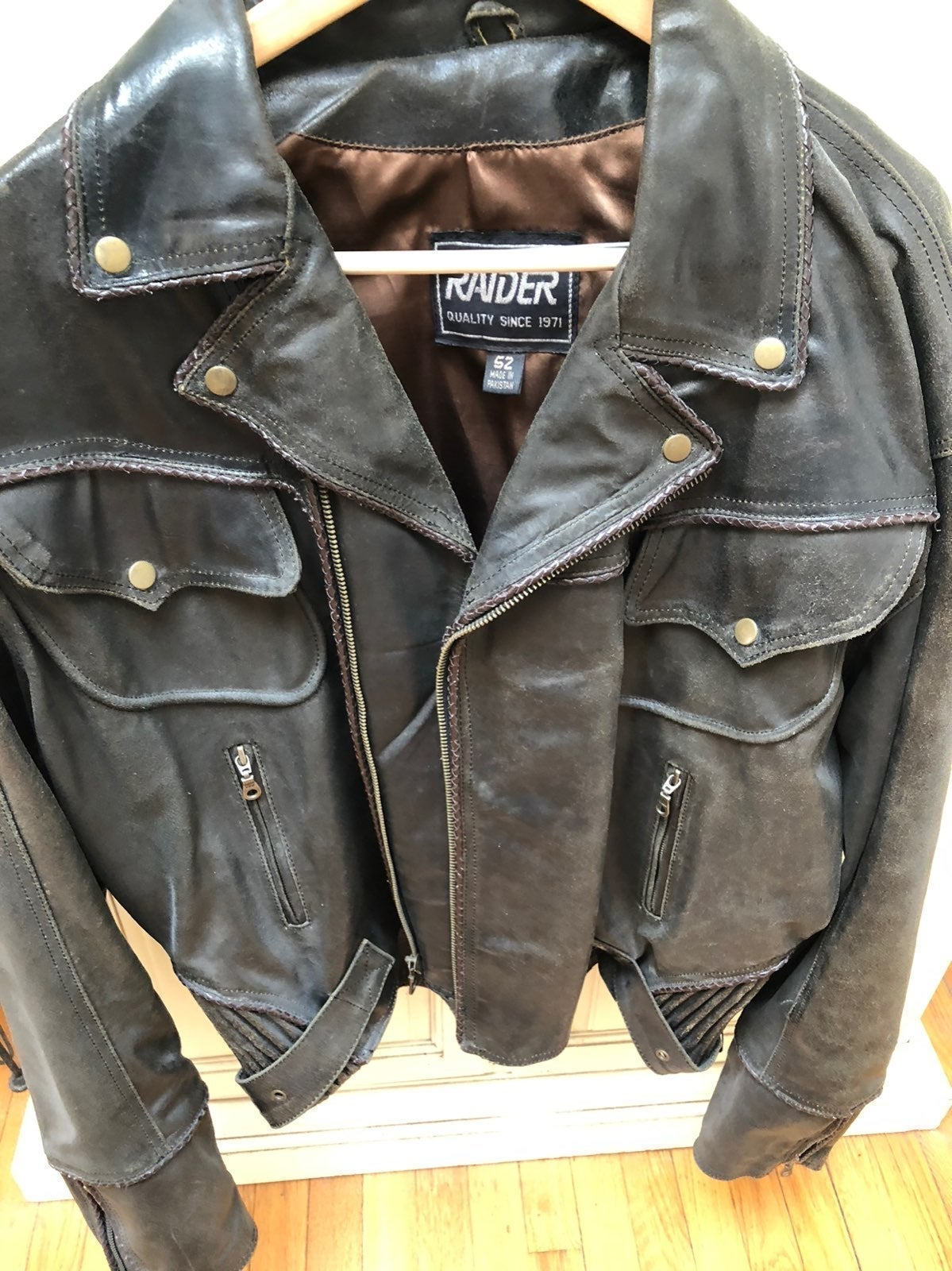 Raider Brown Leather Riding Jacket
