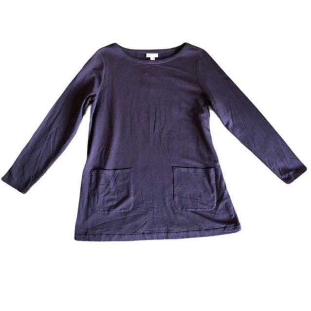 J. Jill Tunic Plum Long Sleeve Pockets