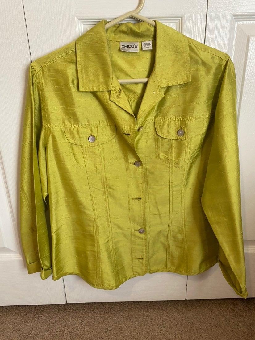 Chicos Silk jacket