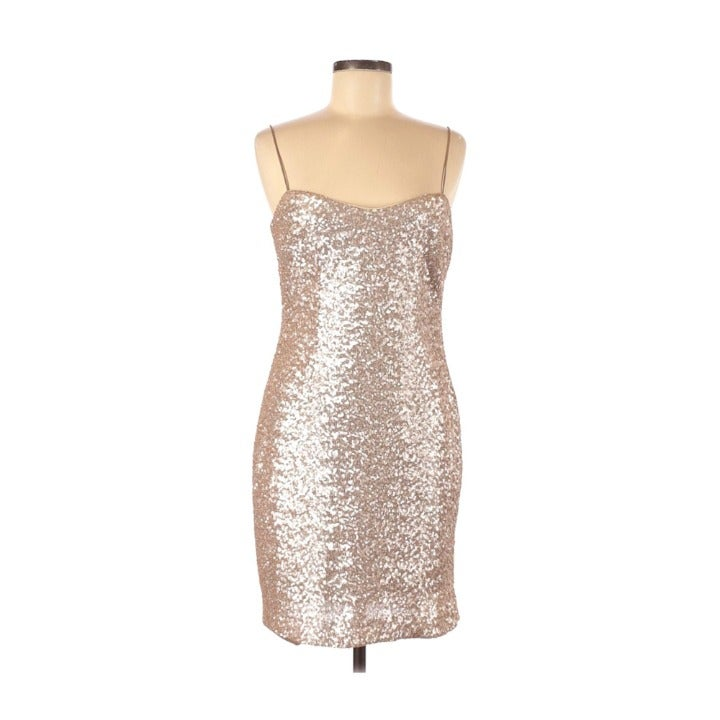 Kay Unger New York Sequin Slip Dress