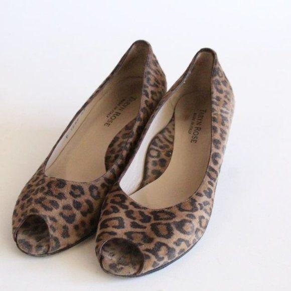 Taryn Rose Italy Leopard Wedges
