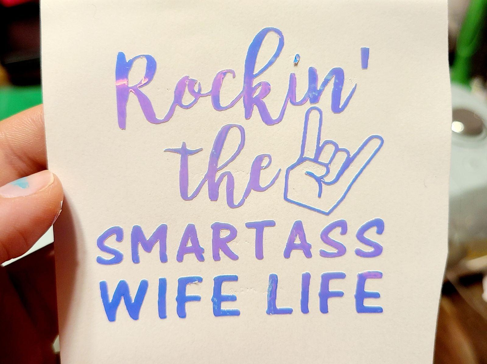 Wife car decal funny rockin smart wife