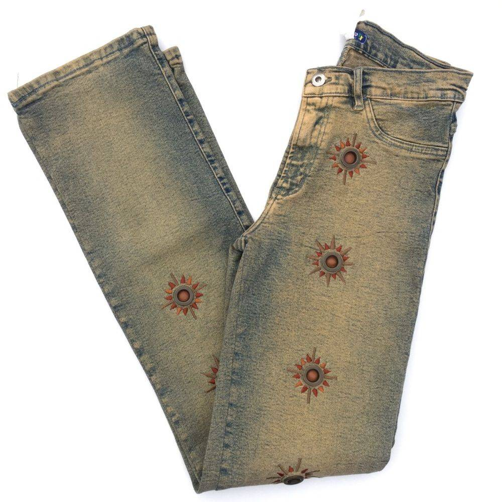 BrazilRoxx Embroidered Studded Jeans 4