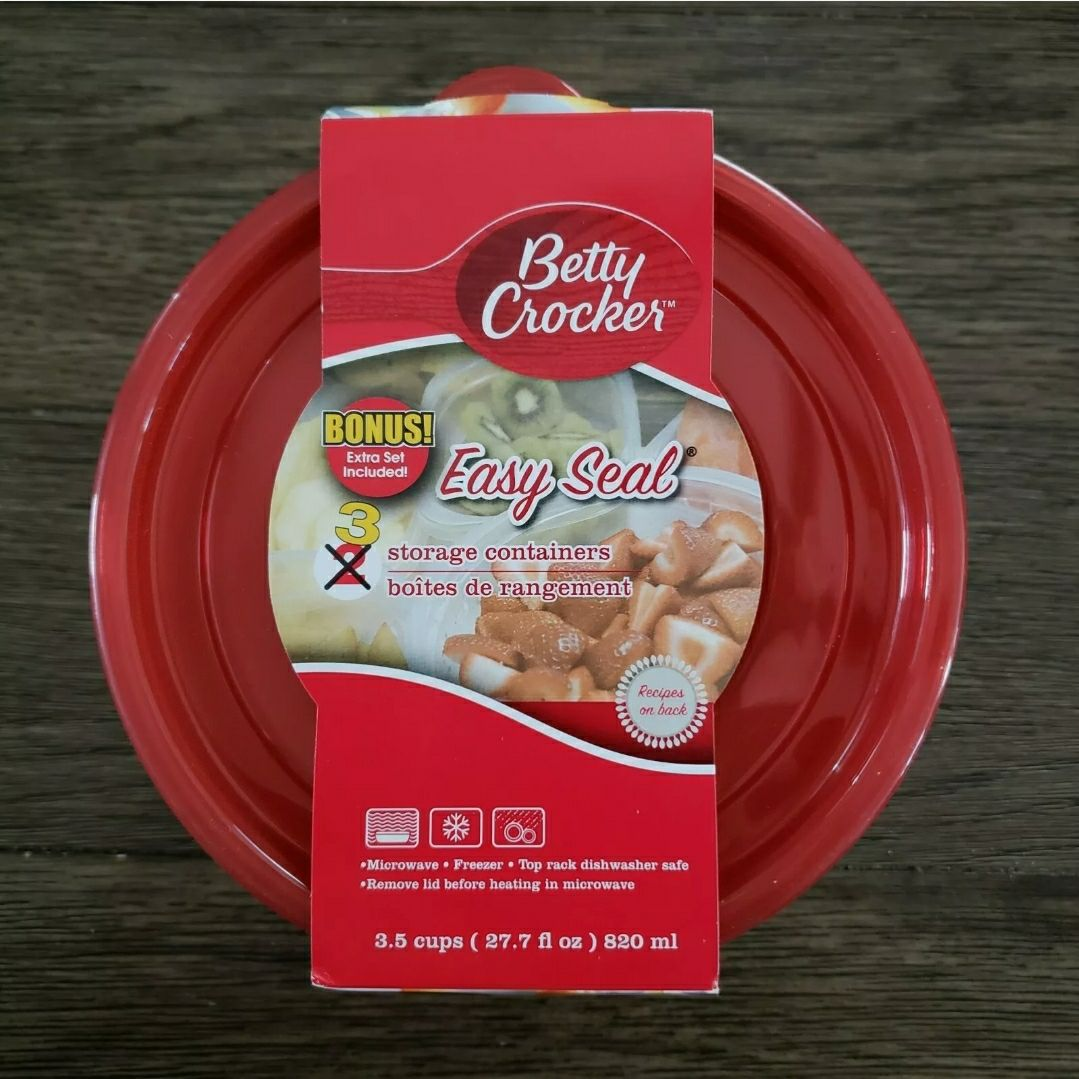 6 Round Food Storage Containers