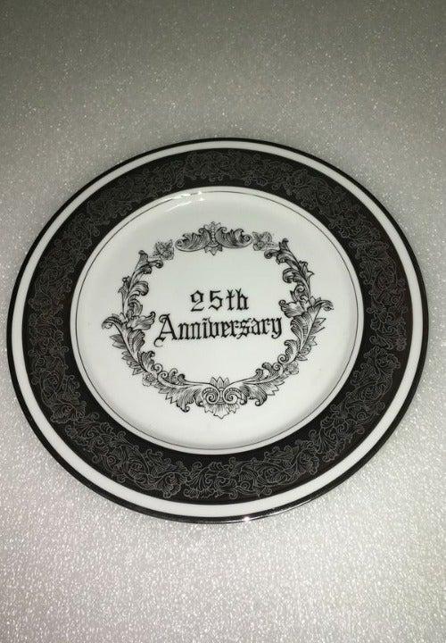 Vtg Norcrest 25 Silver Anniversary Plate