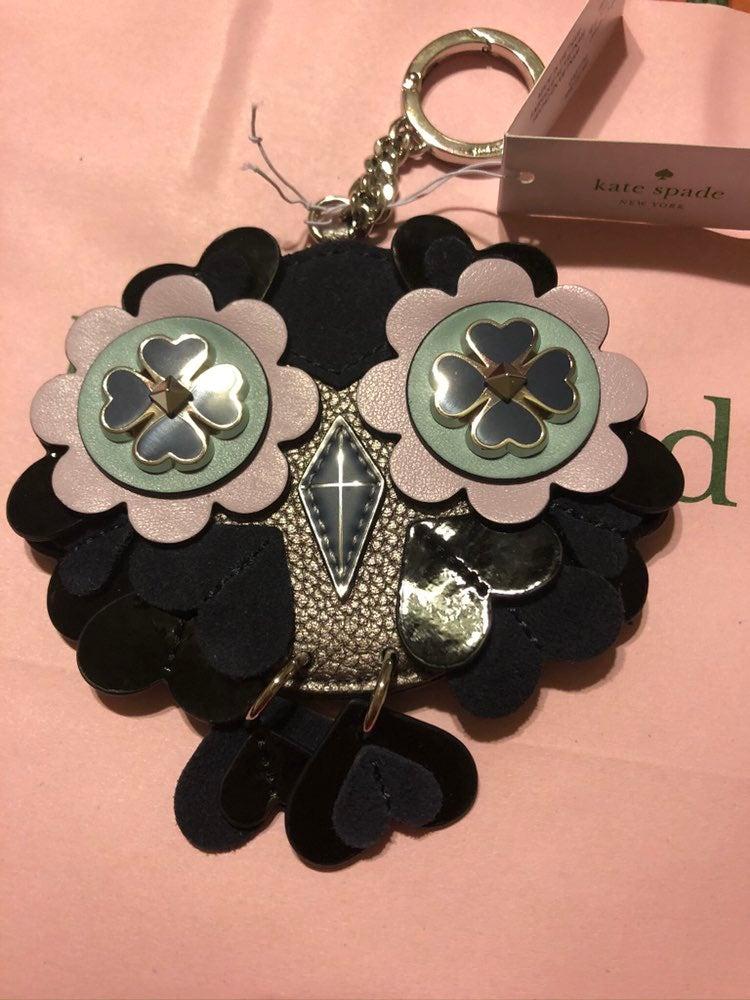 Kate Spade Owl key Chain Purse Hook New