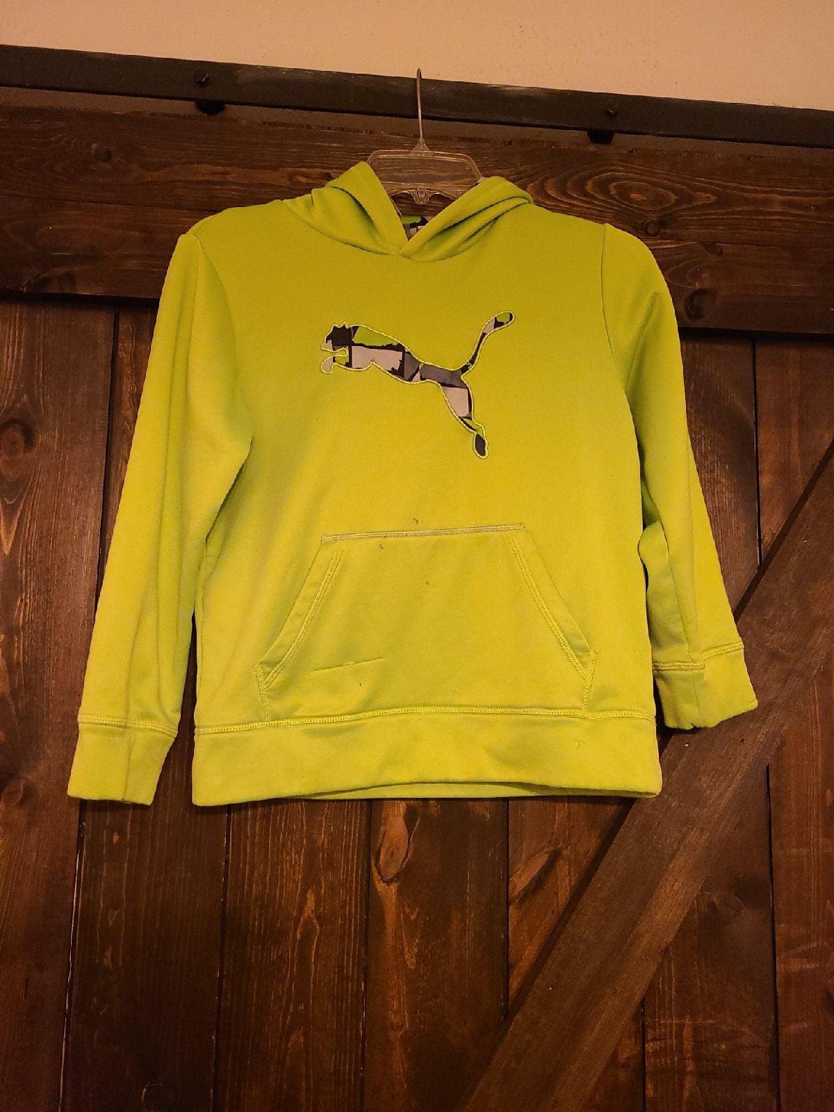 Puma lime green hoodie