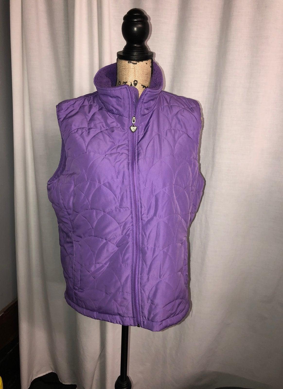 XL Laura Scott Lavender Puffy Vest