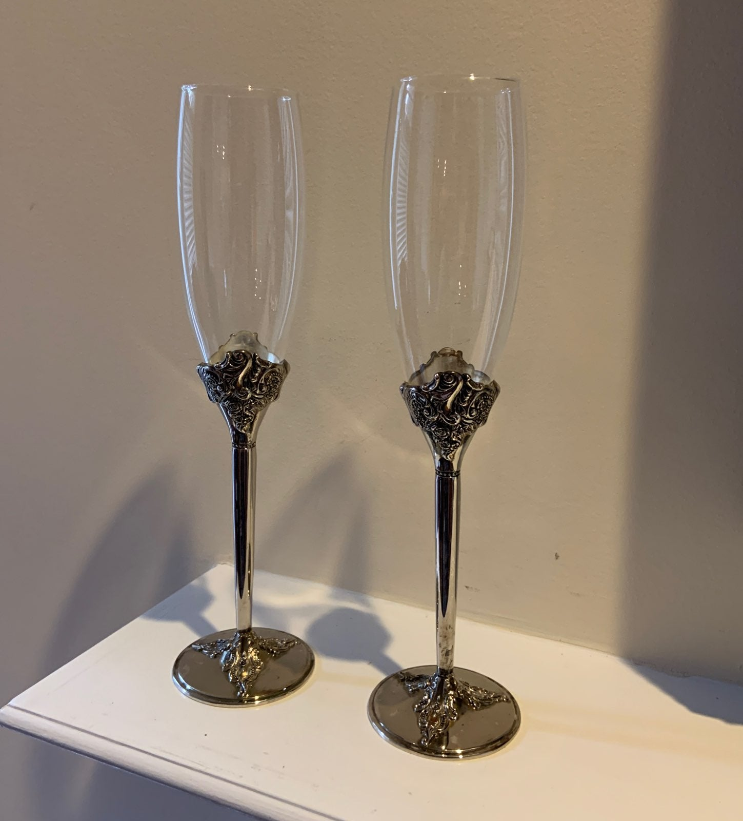 Vintage Wallace Silver Champagne Glasses