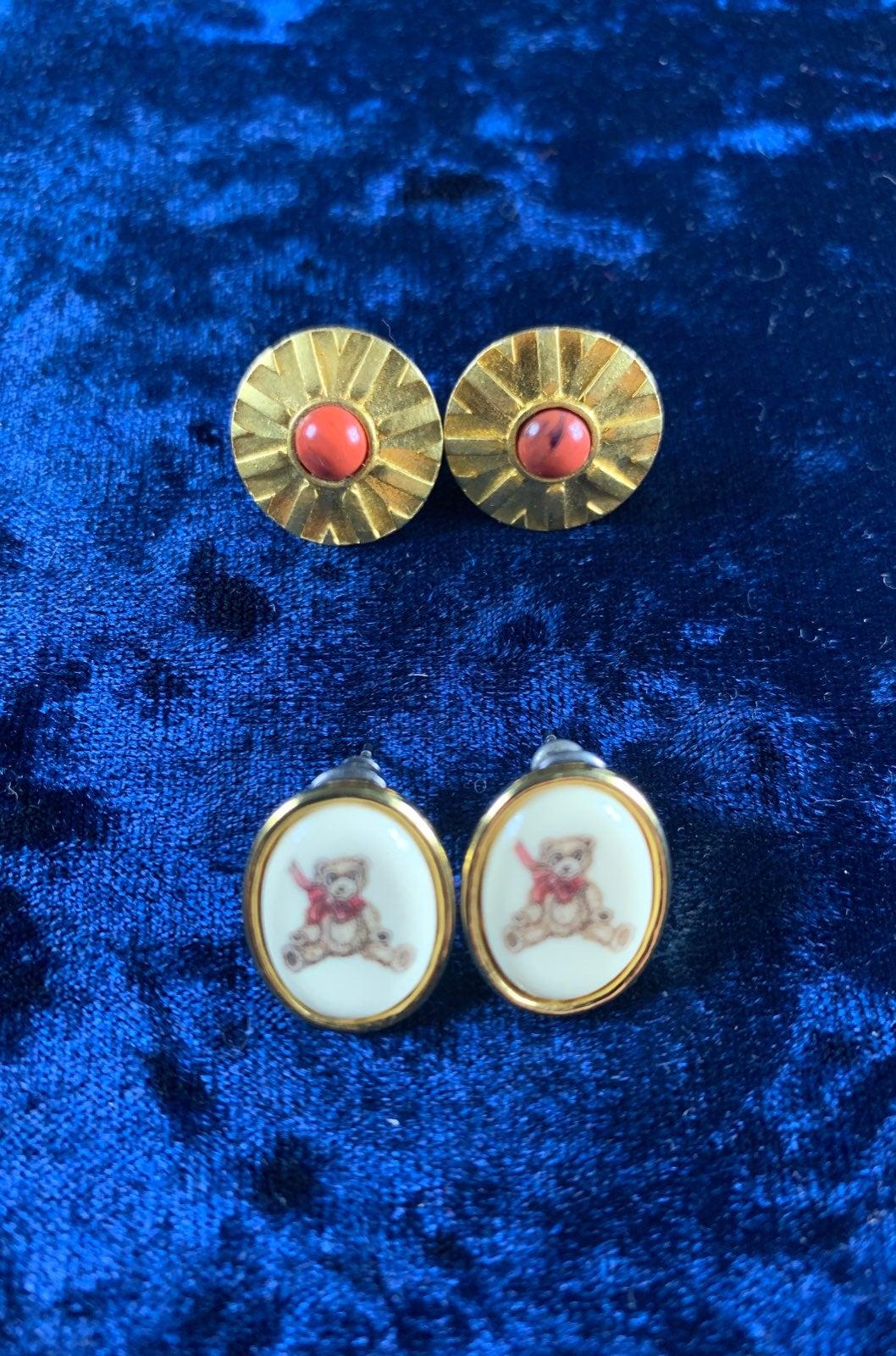 Vintage Designer post earrings