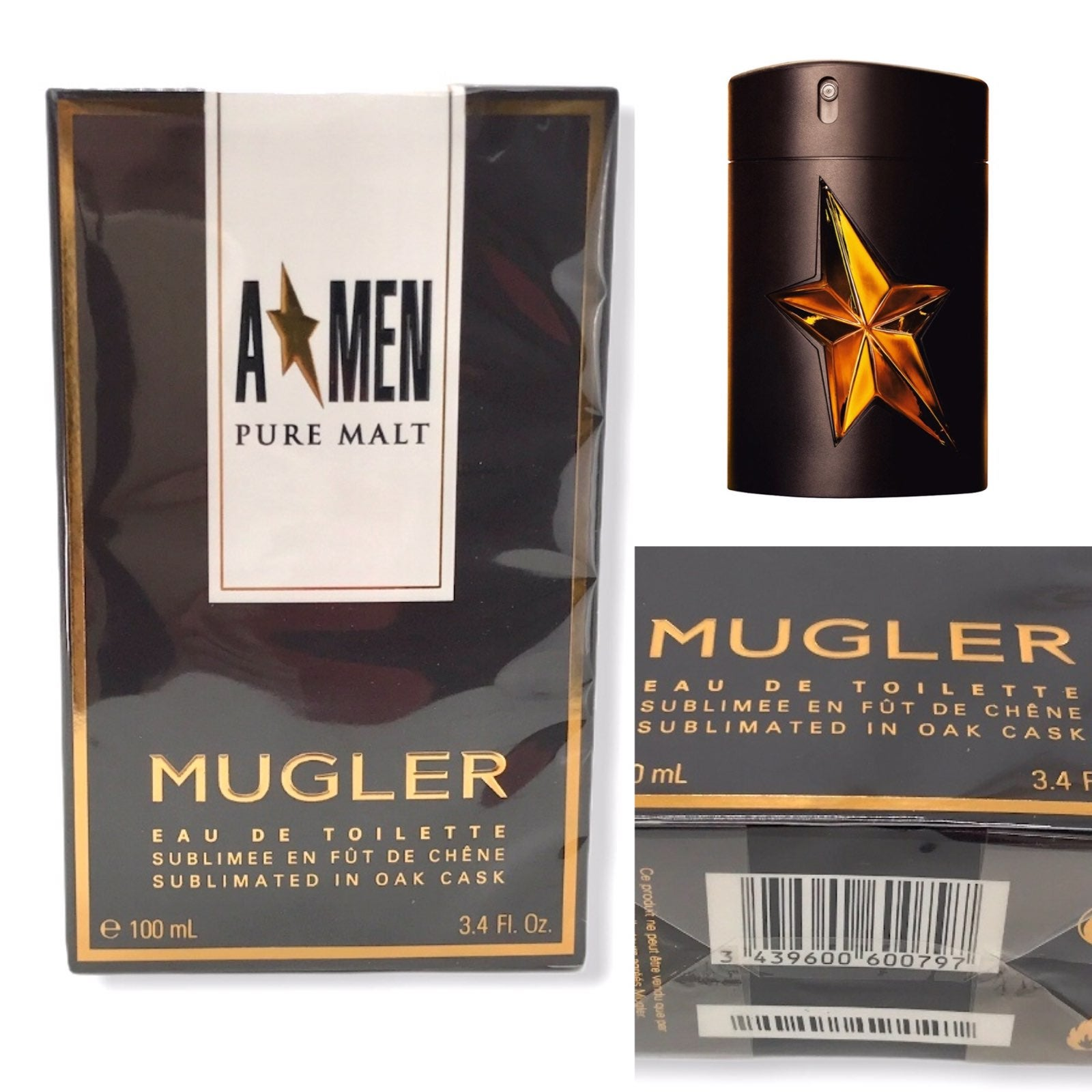 Angel Men PURE MALT EDT 3.4oz by MUGLER