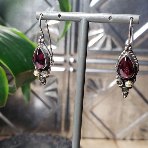 Vintage earrings 1990 sterling silver ru