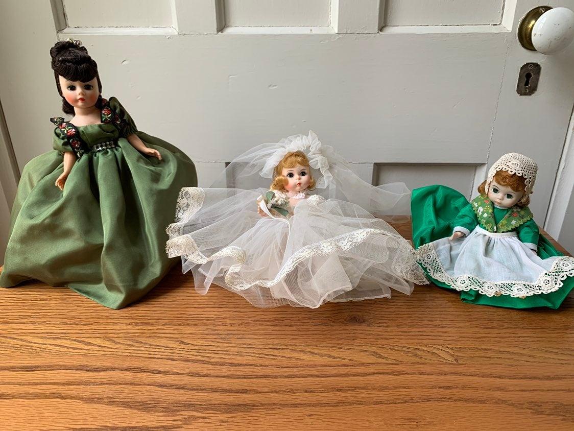Lot of 3 Madame Alexander Dolls