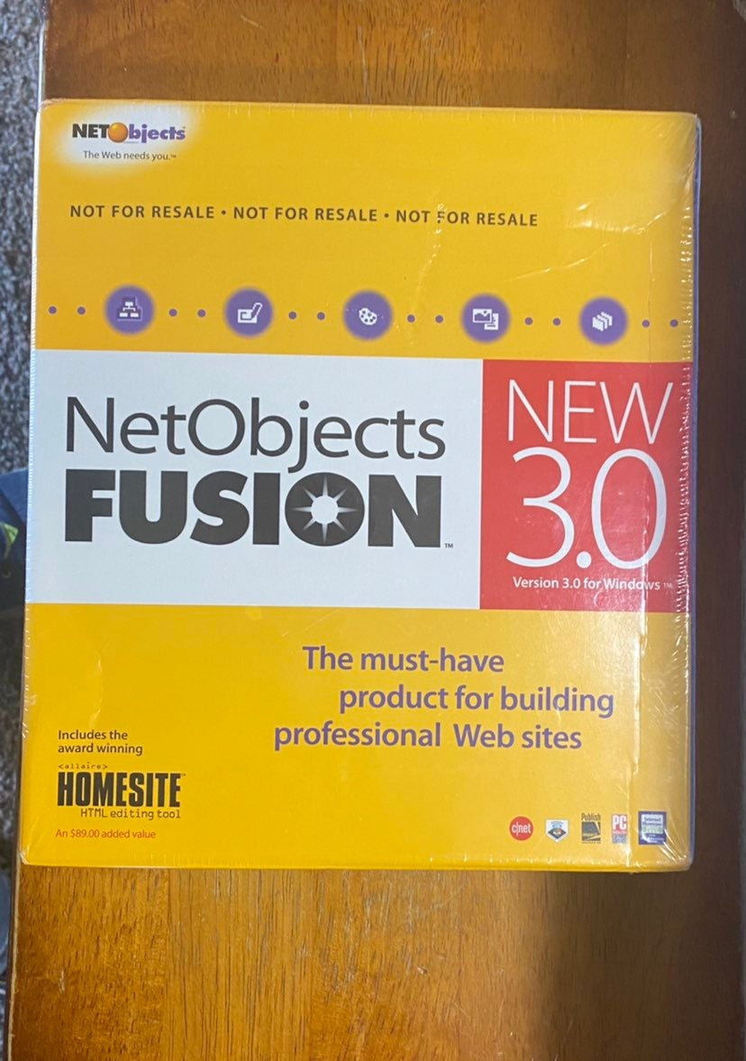NetObjects Build Website PC Software New