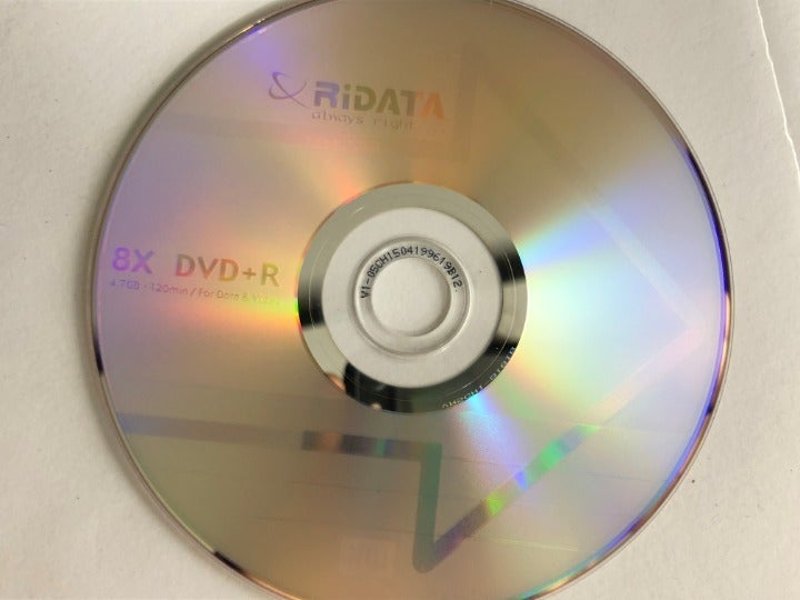 25-Pack RiDATA Blank DVD+R 4.7GB DVDs