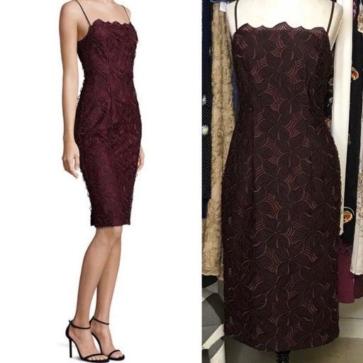 NWOT BLACK HALO Burgundy Sheath Dress