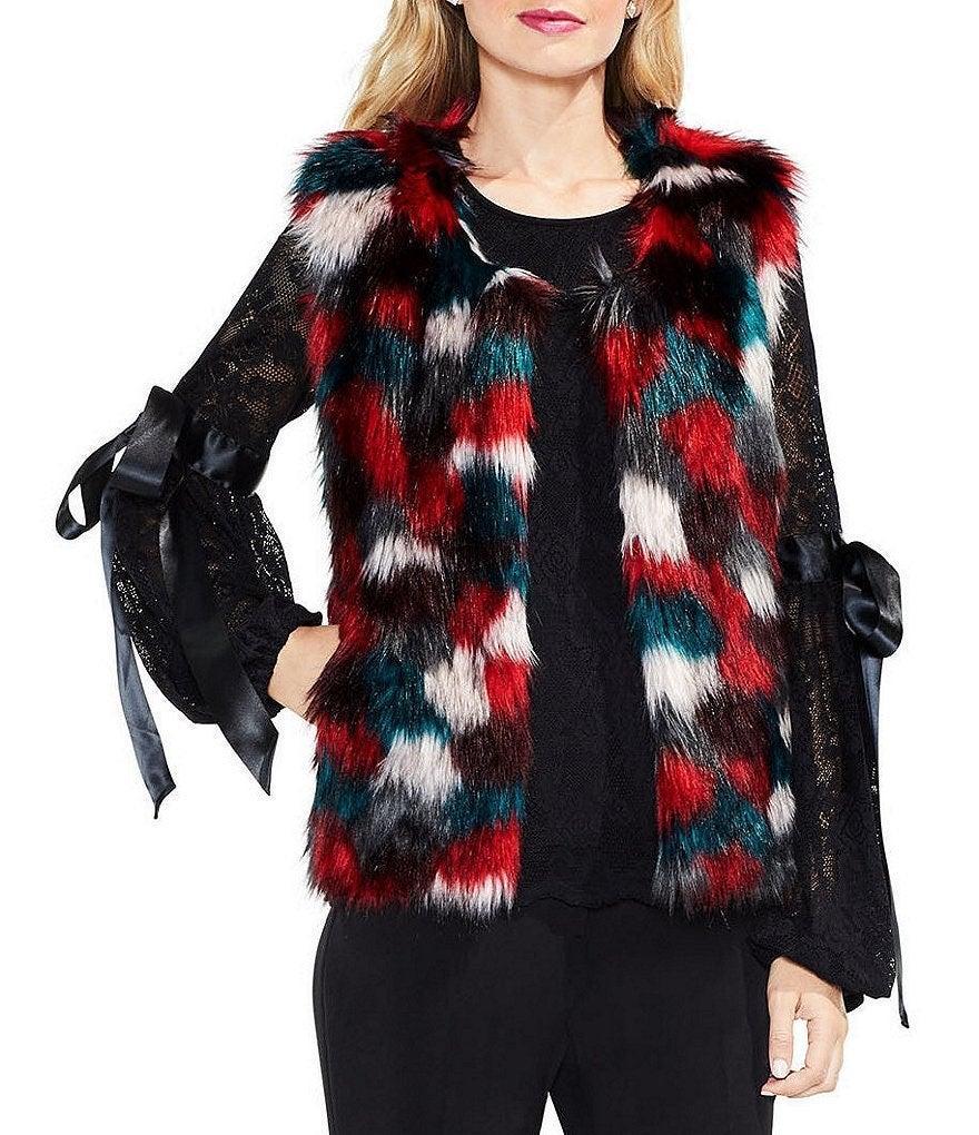NWT- Colorful Fur Vest