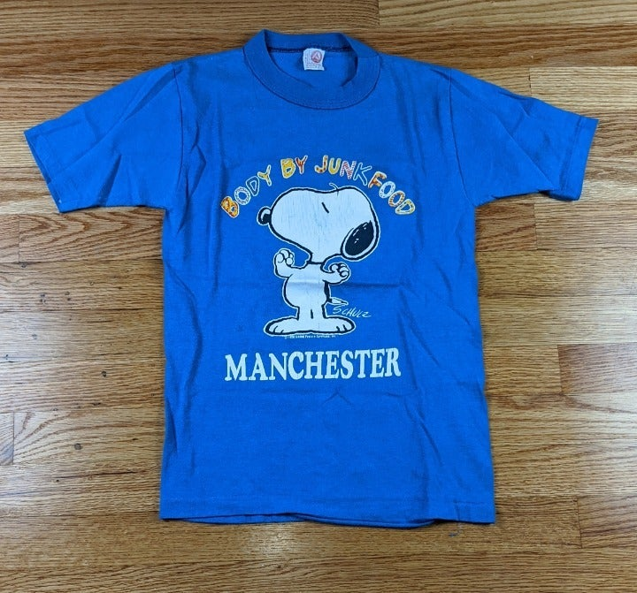 Vintage Snoopy Junk Food Manchester Tee