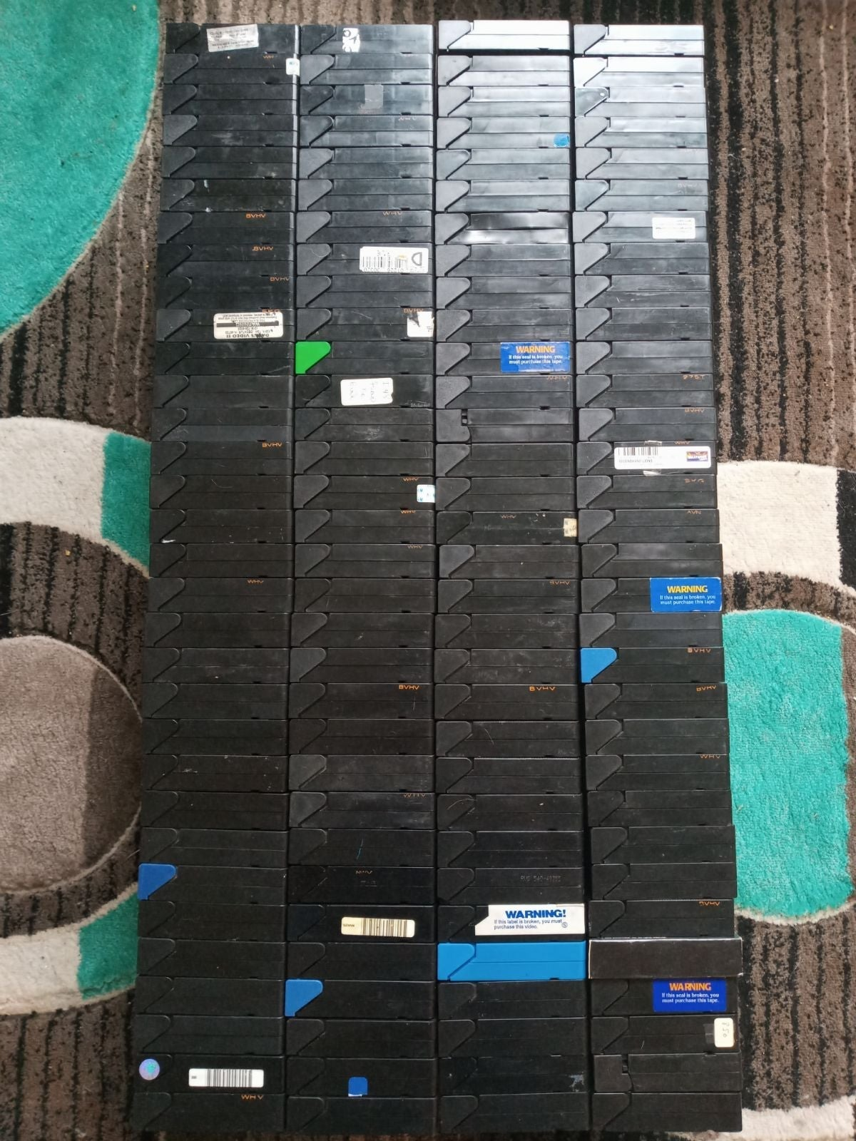 MASSIVE 128 FILM VHS COLLECTION