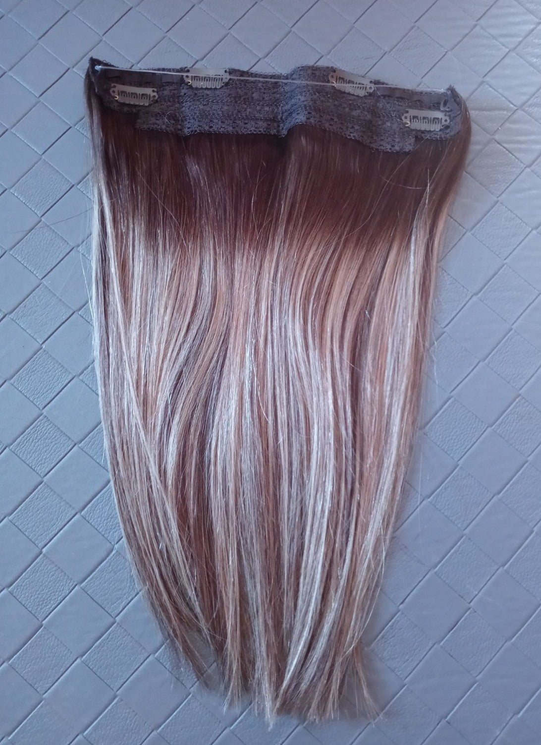 """14"""" Ombre Human Hair Halo Flip Extension"""