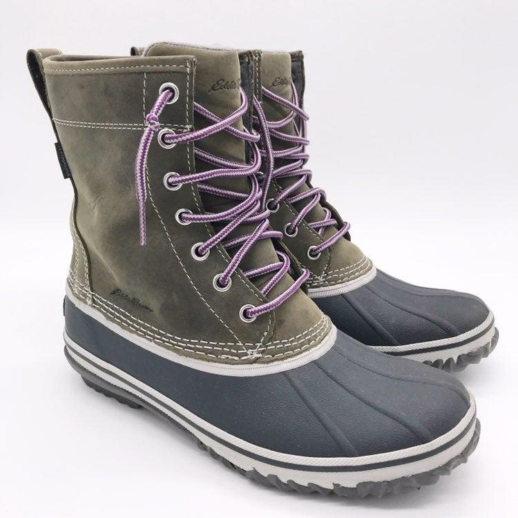 """EDDIE BAUER Hunt 8"""" Pac Duck Boots 7.5"""