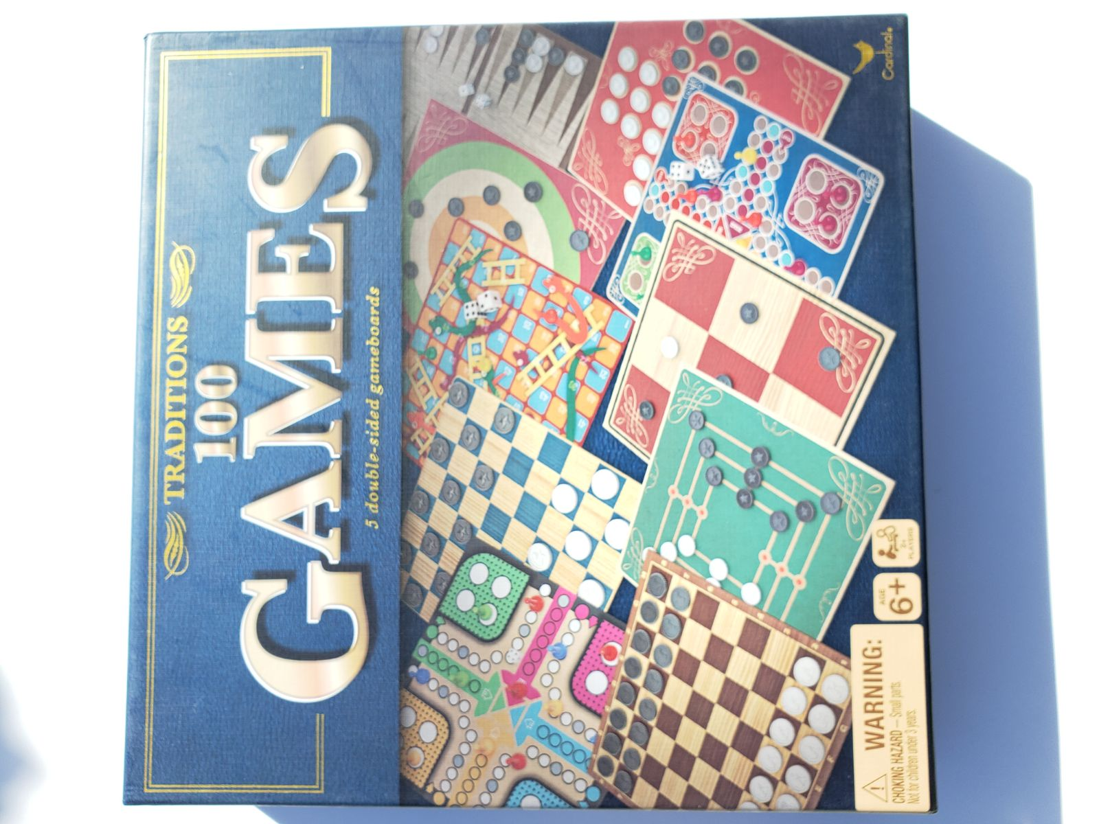 NEW Traditions 100 Board Games Box